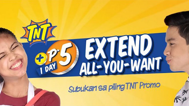 How to Extend TNT Promo for Only 5 Pesos A Day, Up To 365x