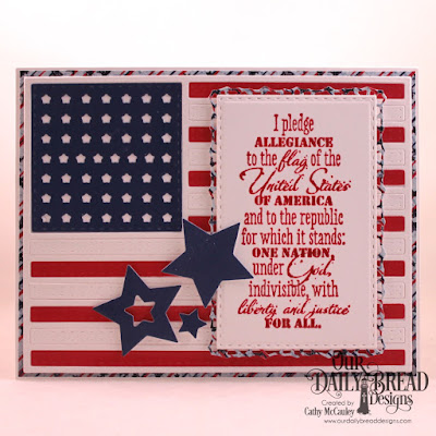 Our Daily Bread Designs Stamp Set: Justice For All, Paper Collection: Stars and Stripes, Custom Dies: USA Flag, Sparkling Stars, Lavish Layers