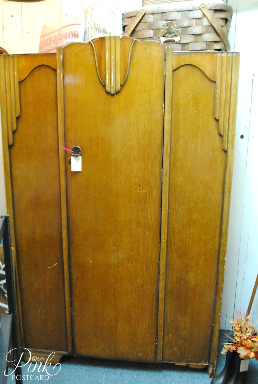 art deco armoire updated for today noble vintage. Black Bedroom Furniture Sets. Home Design Ideas