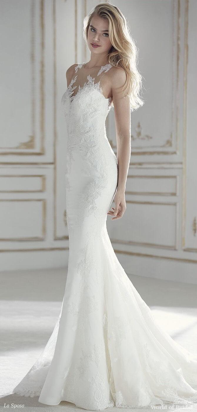 La sposa 2018 wedding dresses world of bridal for Low waist wedding dress
