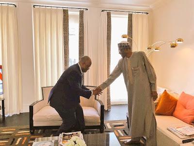 Godswill Akpabio meets president Buhari in London ahead of rumoured defection