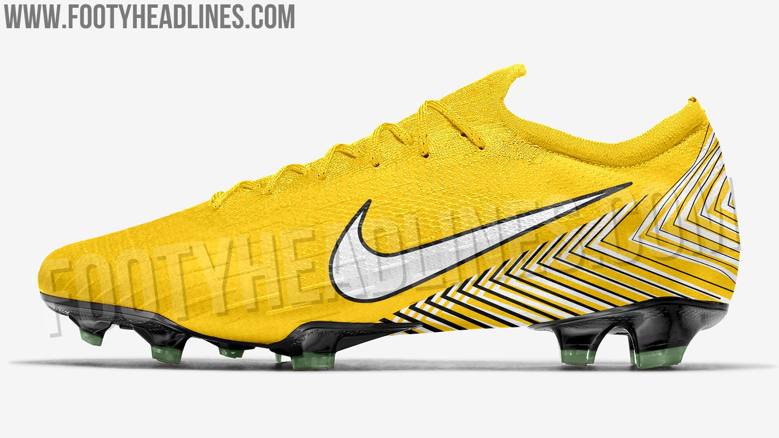 This image shows the Nike Mercurial Vapor 12 Elite Neymar signature boots.
