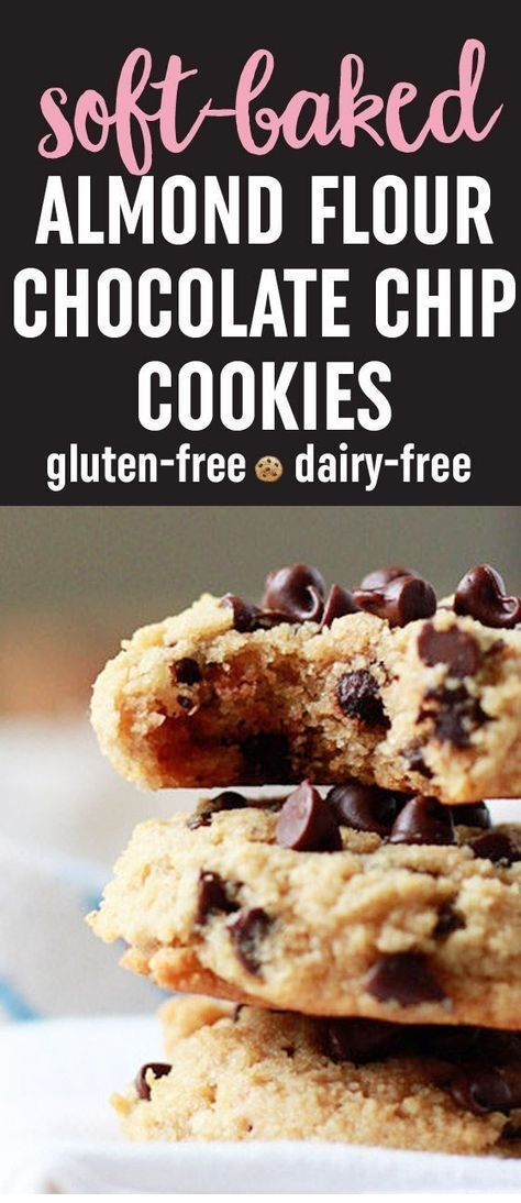 Soft-Baked Almond Flour Chocolate Chip Cookies