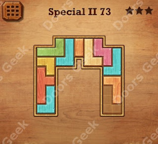 Cheats, Solutions, Walkthrough for Wood Block Puzzle Special II Level 73