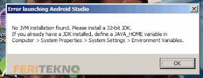 mengatasi android studio yang error launching