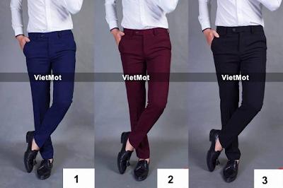 Quần vải nam, quần âu nam ba màu phong cách nhất cho các men.