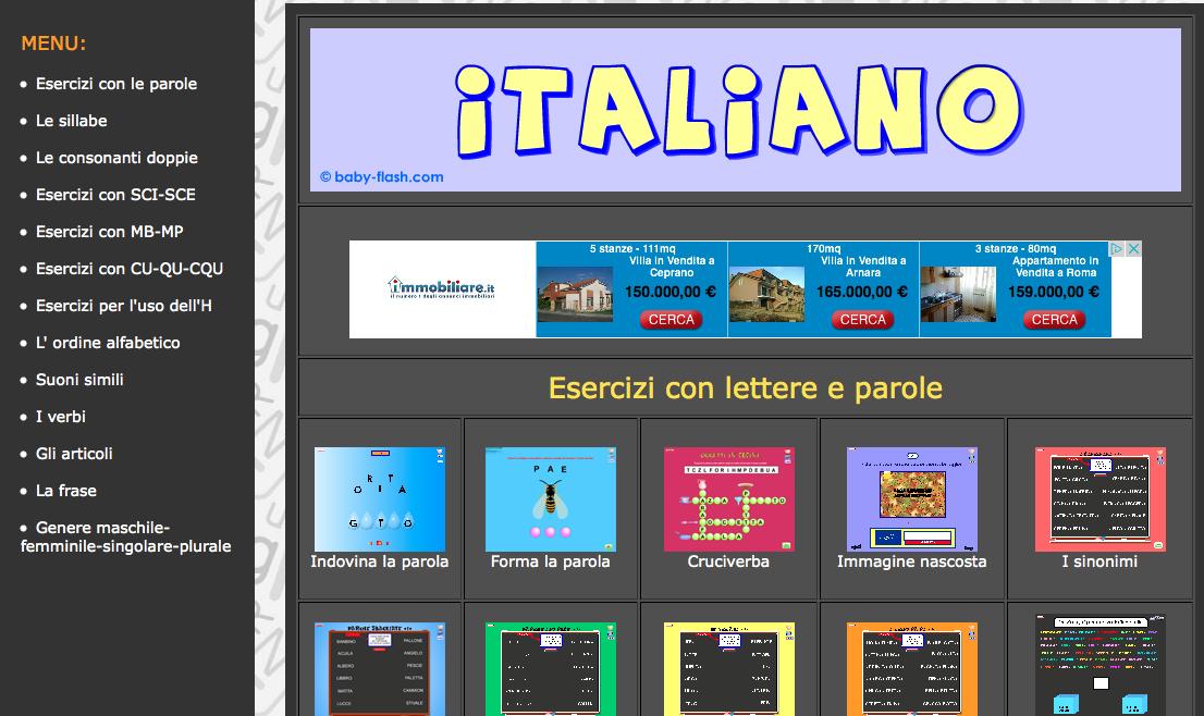 Guamodì Scuola: Italiano Baby Flash: italiano per bambini ...