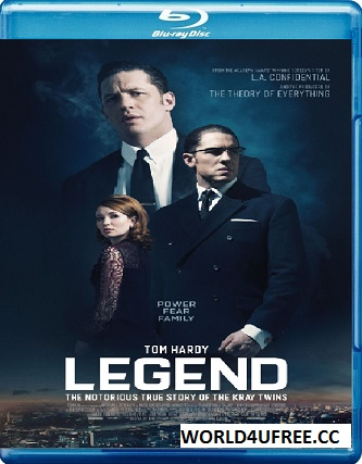 Legend 2015 BRRip 480p 350mb ESub hollywood movie Legend 480p 300mb compressed small size brrip free download or watch online at https://world4ufree.to