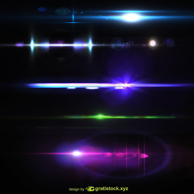 Free Download PSD Beautiful Lights Effects.
