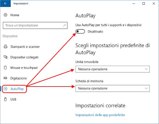 ZEROZEROCENT: Disattivare l'AutoPlay in Windows 10