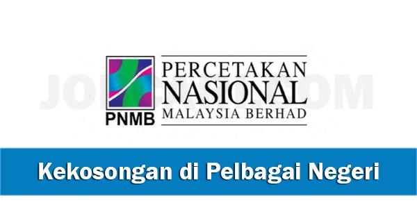Jawatan Kosong di Percetakan Nasional Malaysia Berhad