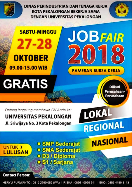 Job Fair / Bursa Kerja Pekalongan Jawa Tengah (Gratis)