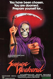 savage weekend, affiche, slasher, you have been chosen you are doomed prepare yourself, david paulsen