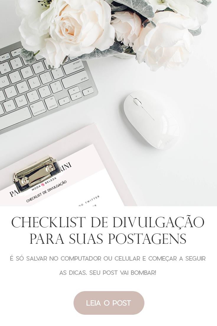 checklist de divulgação para suas postagens
