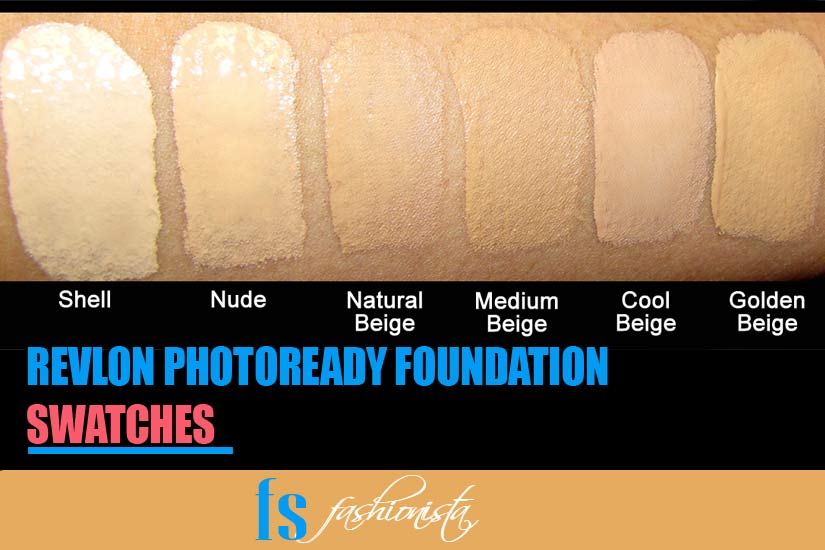 Revlon photoready foundation swatches