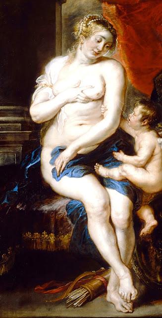 Pieter Paul Rubens - Venere, Cupido e Marte - nudo pittorico femminile - taglie forti