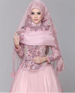 gaun pengantin muslim couple