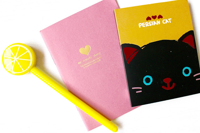 notebook, sticky notes, pens, stationary, born pretty store