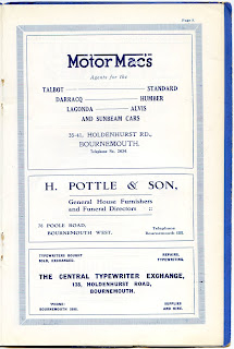 Motor Macs Bournemouth 1928 advert