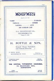 Motor Macs Bournemouth 1928 advert
