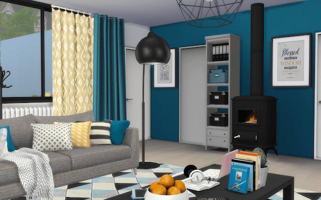 maison décorée à télécharger sims 4