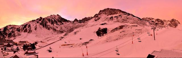 lever de soleil sur Grand Tourmalet