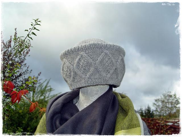 Toczek- czapka na drutach.