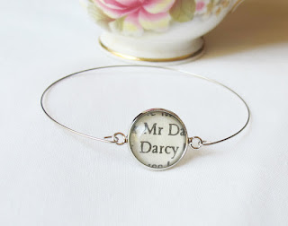 image pride and prejudice mr darcy stacking bangle two cheeky monkeys bracelet jane austen