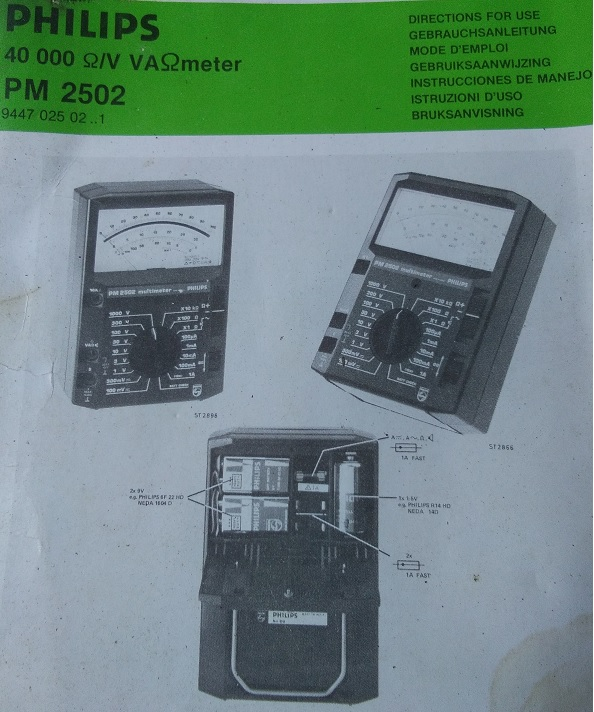 Philips Pm2502 Analogue Multimeter And Hung Chang 303tr Digital