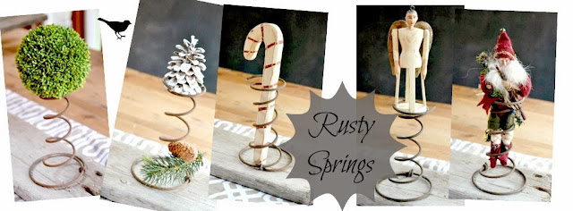 rusty springs in Christmas decorating www.homeroad.net