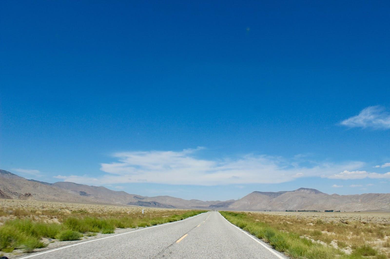 landscape on road trip through death valley California USA