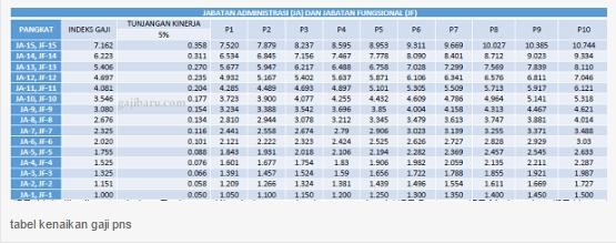 Berikut Besar Gaji PNS Menurut RPP Gaji, Tunjangan Dan Fasilitas PNS 2017