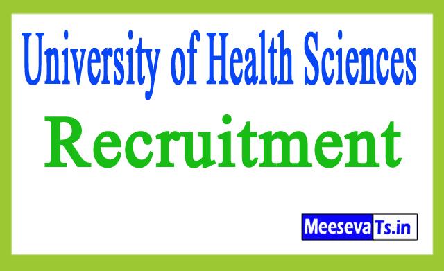 University of Health Sciences UHS Recruitment