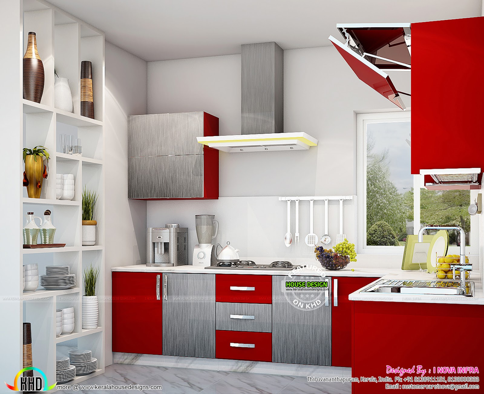 Kerala kitchen interiors kerala home design and floor plans for Interior designs kitchen