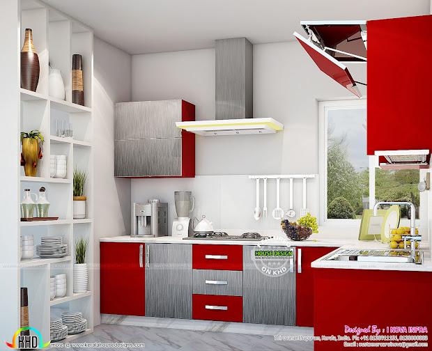 Kerala Kitchen Interiors - Home Design And Floor Plans