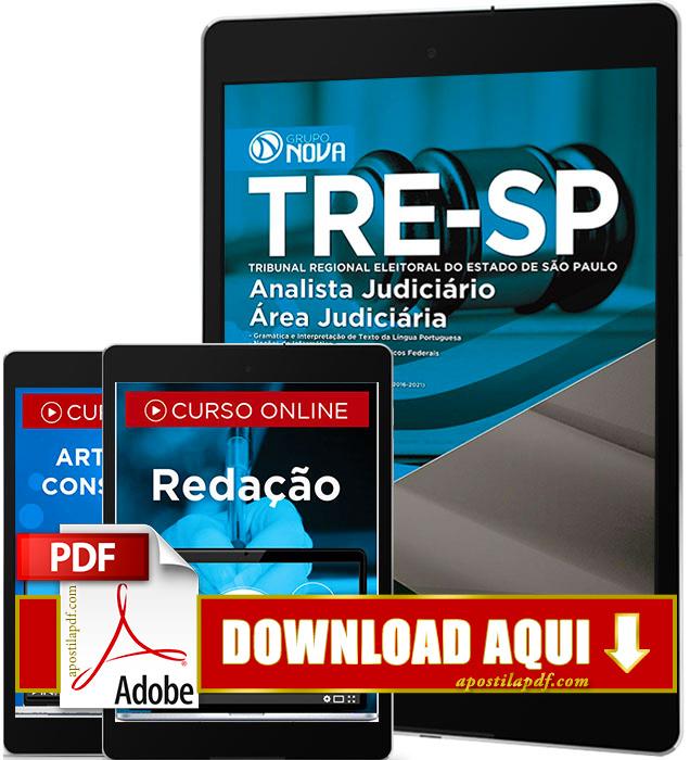 Apostila TRE SP 2016 PDF Download Analista Judiciário Área Judiciária