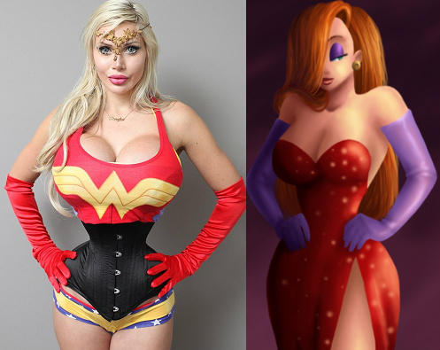 Image result for pixee fox before surgery jessica rabbit