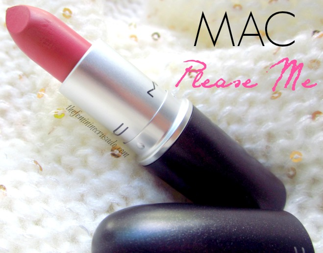 MAC Lipstick in Please Me