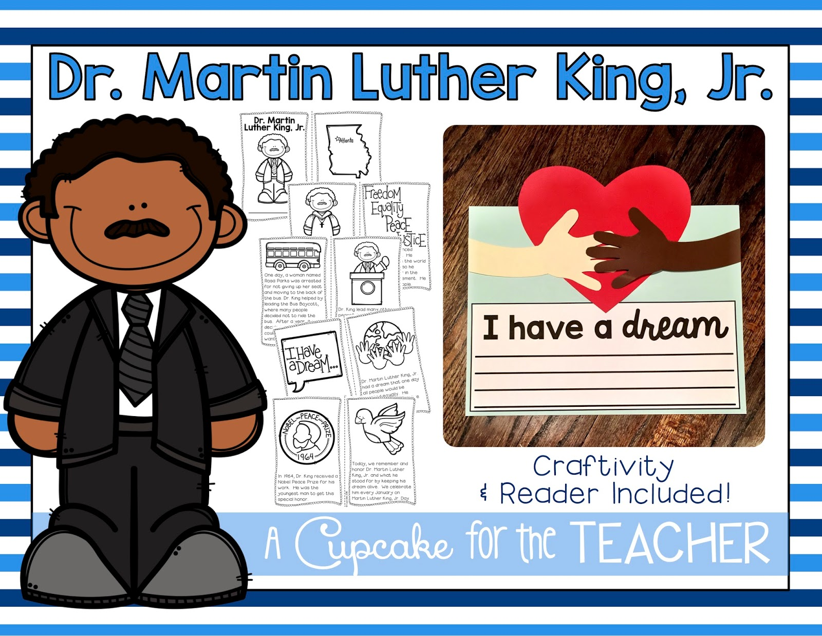 Crafts & Ideas for MLK Day! - A Cupcake for the Teacher