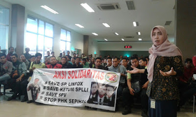 aksi solidaritas menolak phk sepihak pt. linfox mirah sumirat