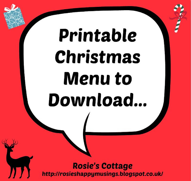 Printable Christmas Menu To Download