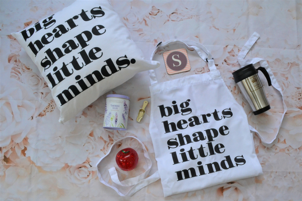 flat lay of 6 gifts for Teachers