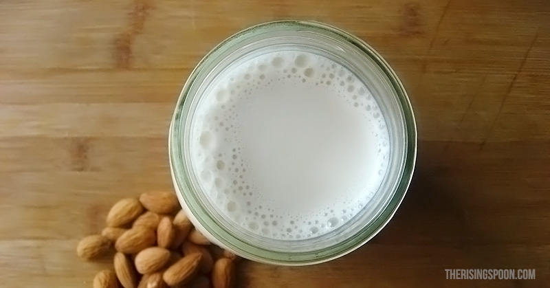 A super simple almond milk recipe using only water and a blender! Homemade tastes far better than store-bought non-dairy almond milk and there are no additives or preservatives!