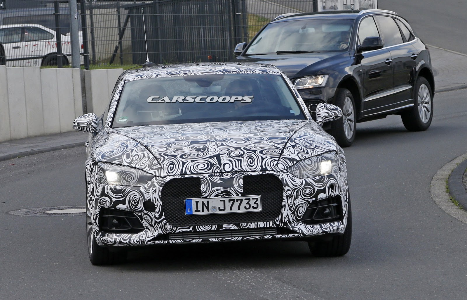 first spy photos of second gen audi a5 b9 chassis b9. Black Bedroom Furniture Sets. Home Design Ideas