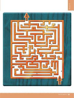 Apoyo Primaria Desafíos matemáticos 3ro. Grado Bloque III Lección 36 El laberinto
