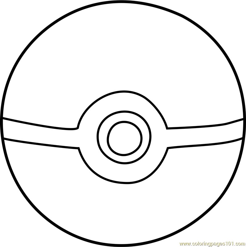 photograph regarding Pokeball Printable named A Pokeball Coloring Web page - Absolutely free Printable Coloring Web pages for