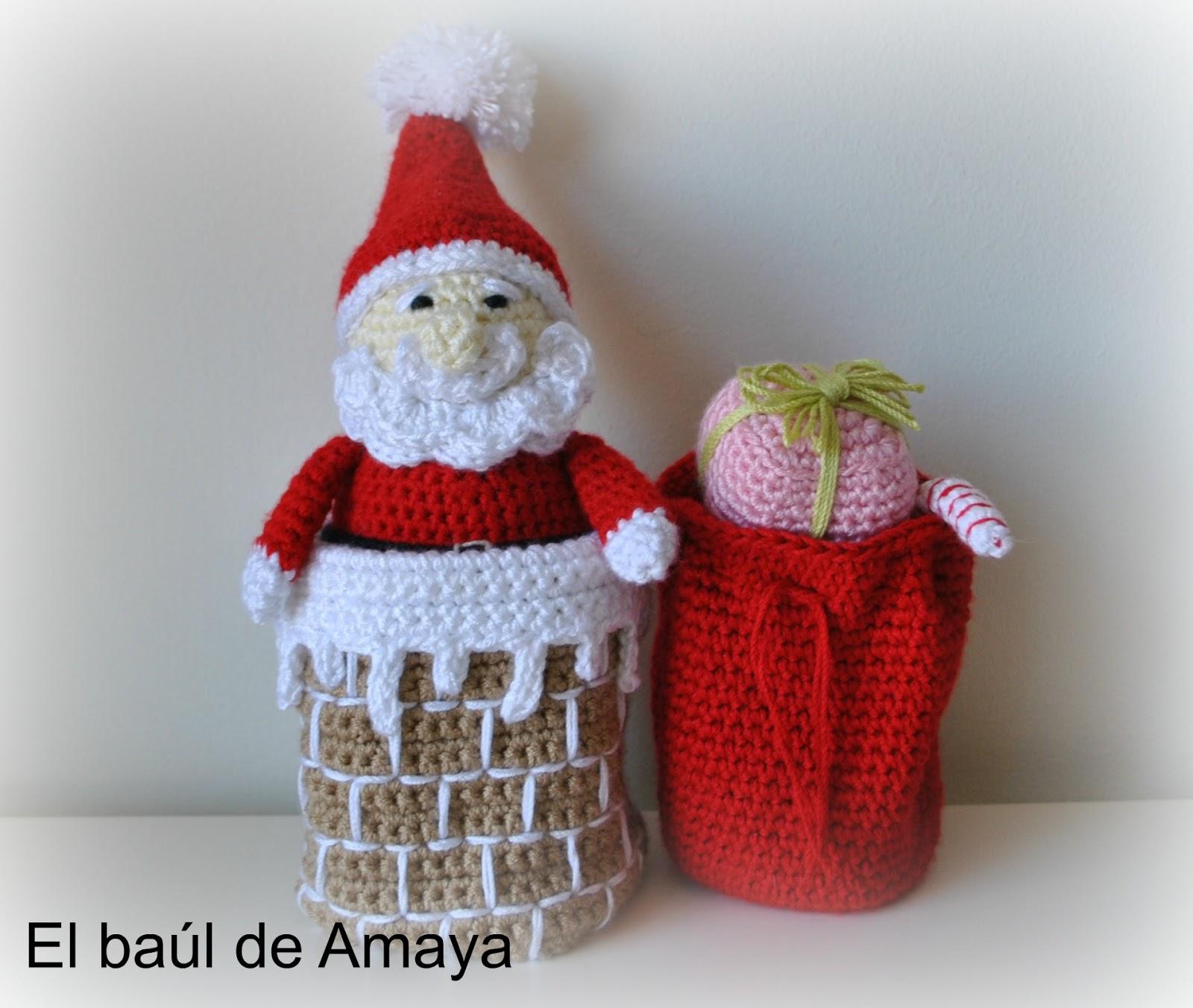 center>PAPA NOEL DE GANCHILLO</center> - Mon petit Crochet