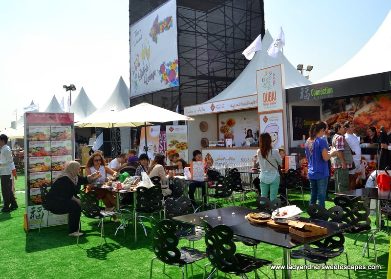 Food Tents at the Dubai Food Carnival