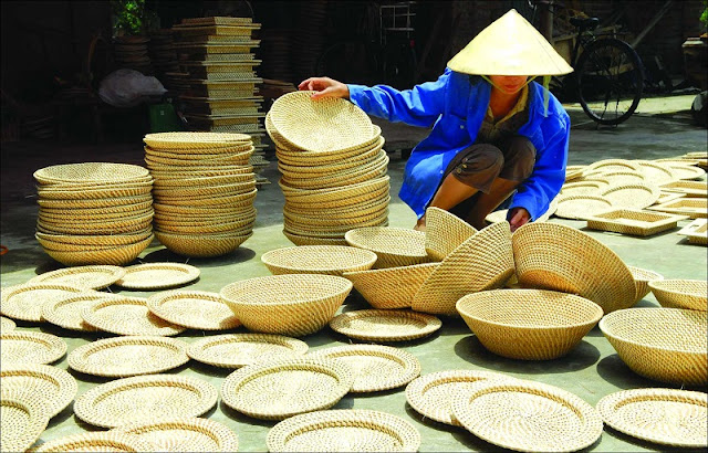 Rattan and bamboo exhibition in Hanoi Old Quarter 1