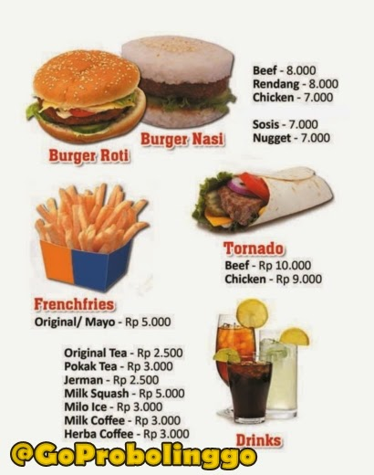 menu segoburger